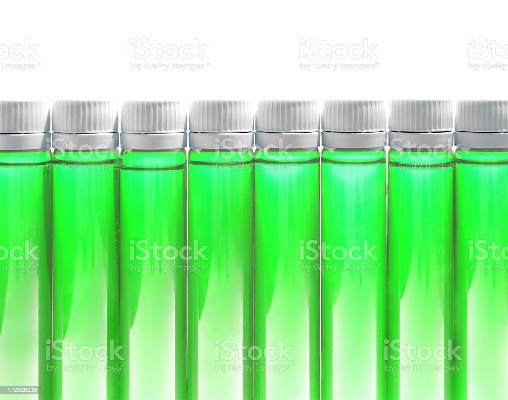 Bottles of Fitness Nutrition or Medicine stock photo