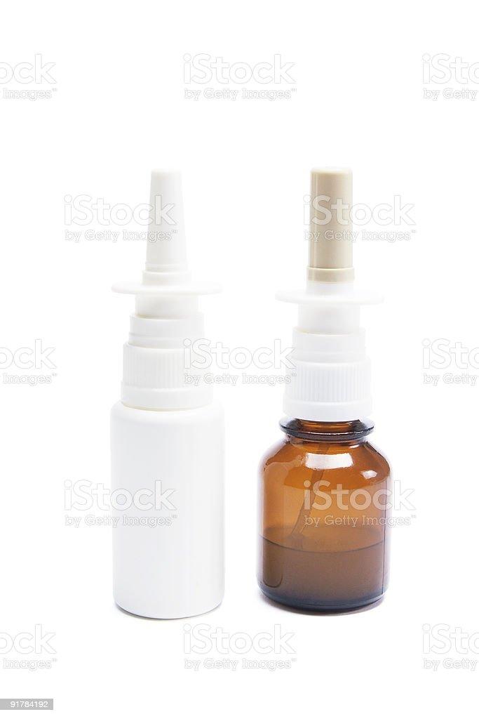 Bottles of Nasal Spray royalty-free stock photo
