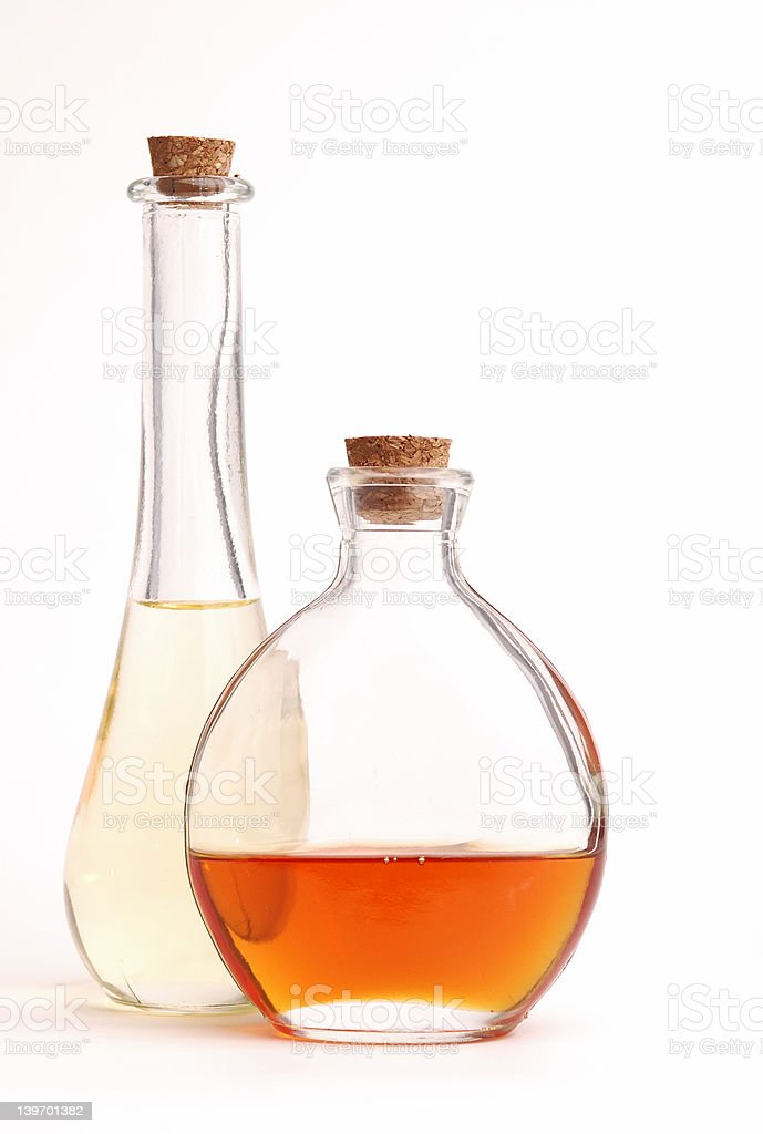 Bottles of Oil royalty-free stock photo