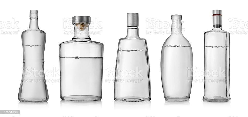 Bottles of vodka stock photo