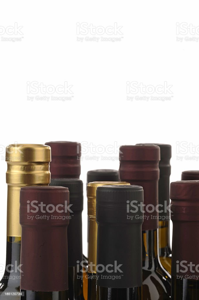 Bottles of Wine stock photo
