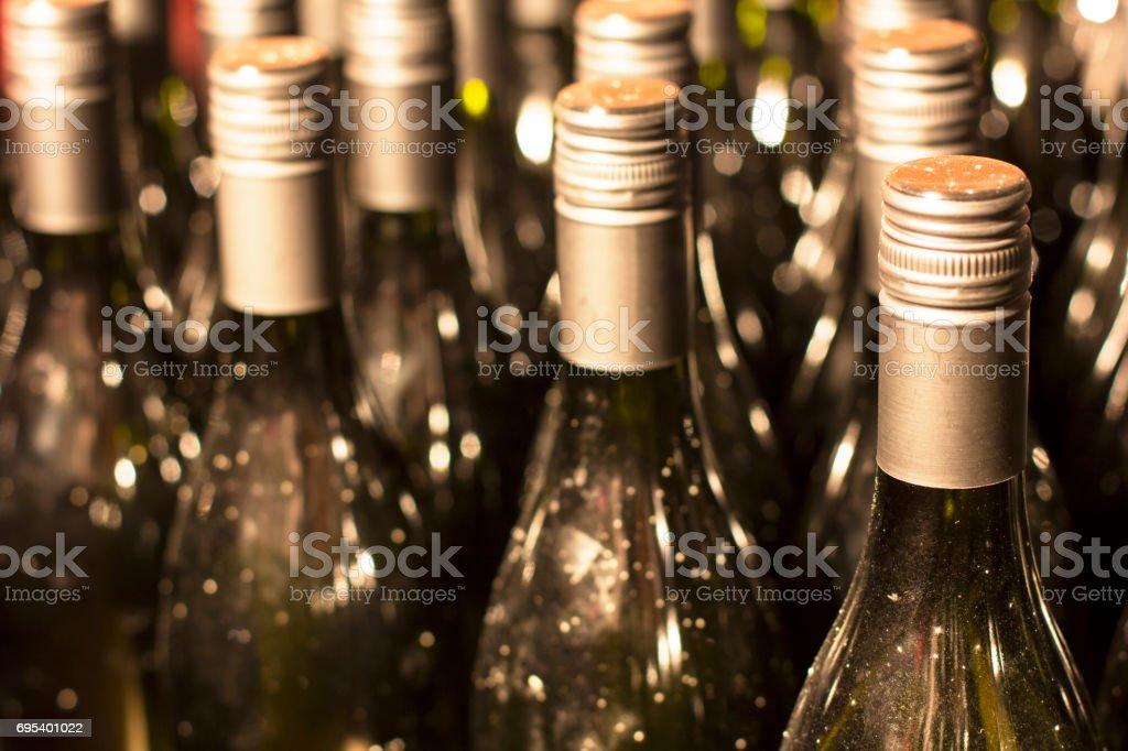 Bottles Of Wine. stock photo