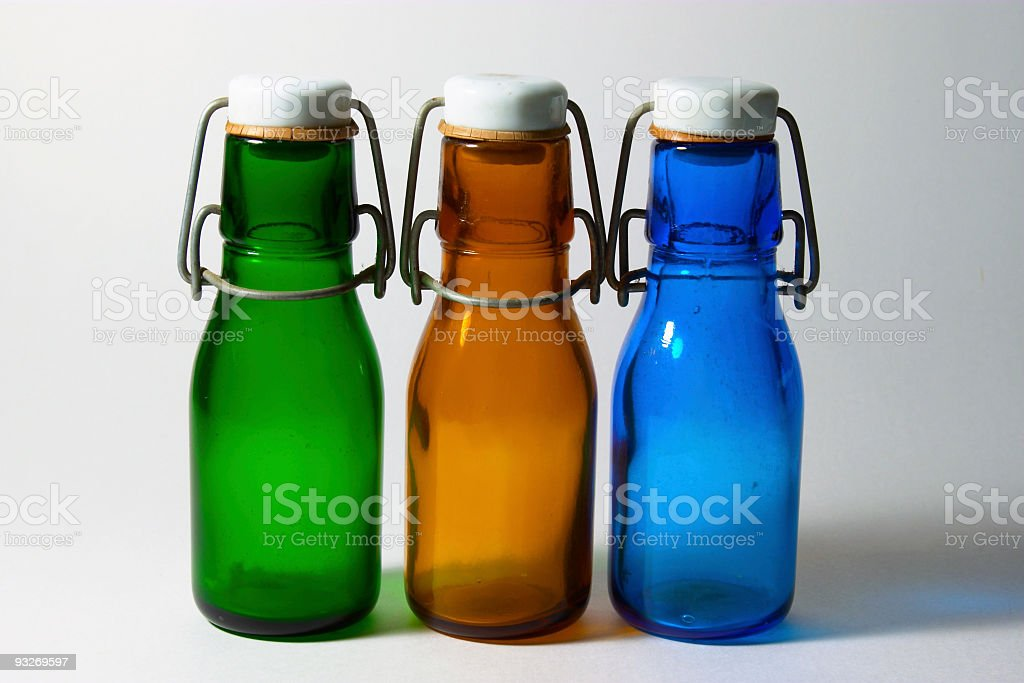 Bottles ( Three Colors ) stock photo
