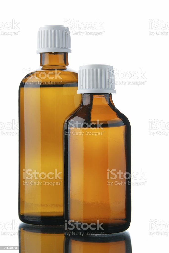 Bottles with solution stock photo