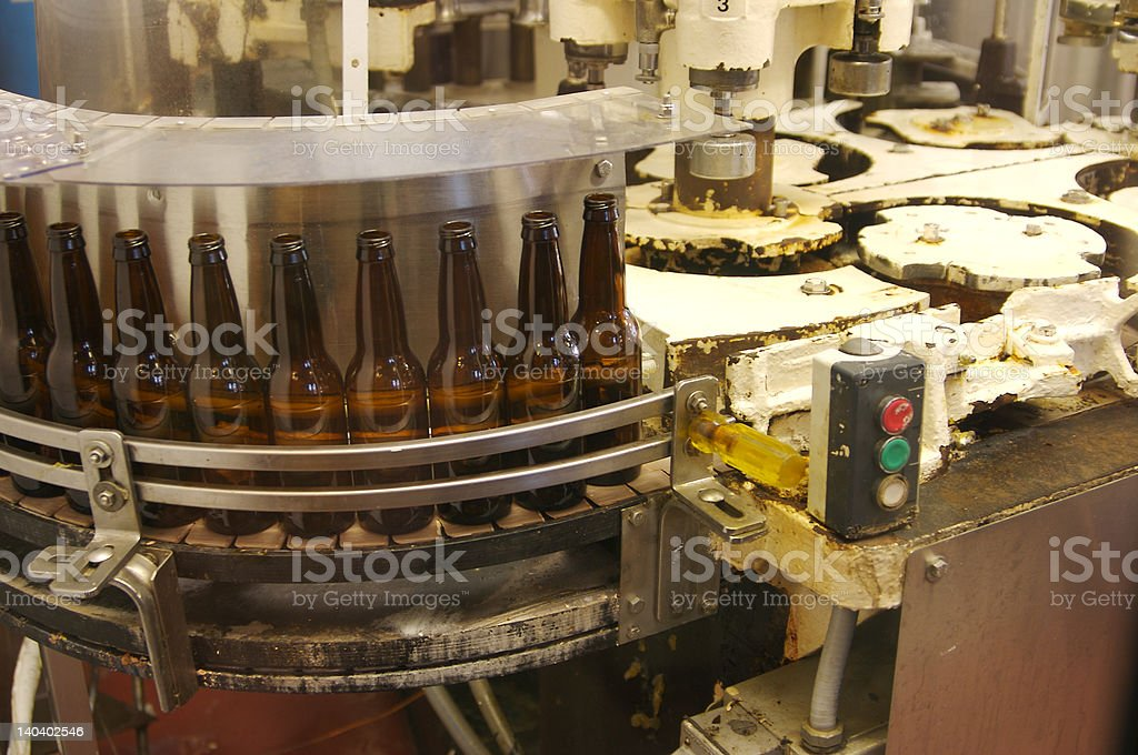 Bottling equipment royalty-free stock photo