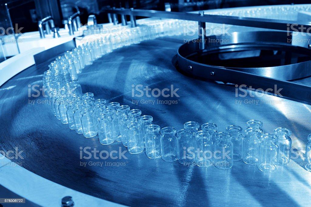 Bottling Line of Pharmaceutical Plant stock photo