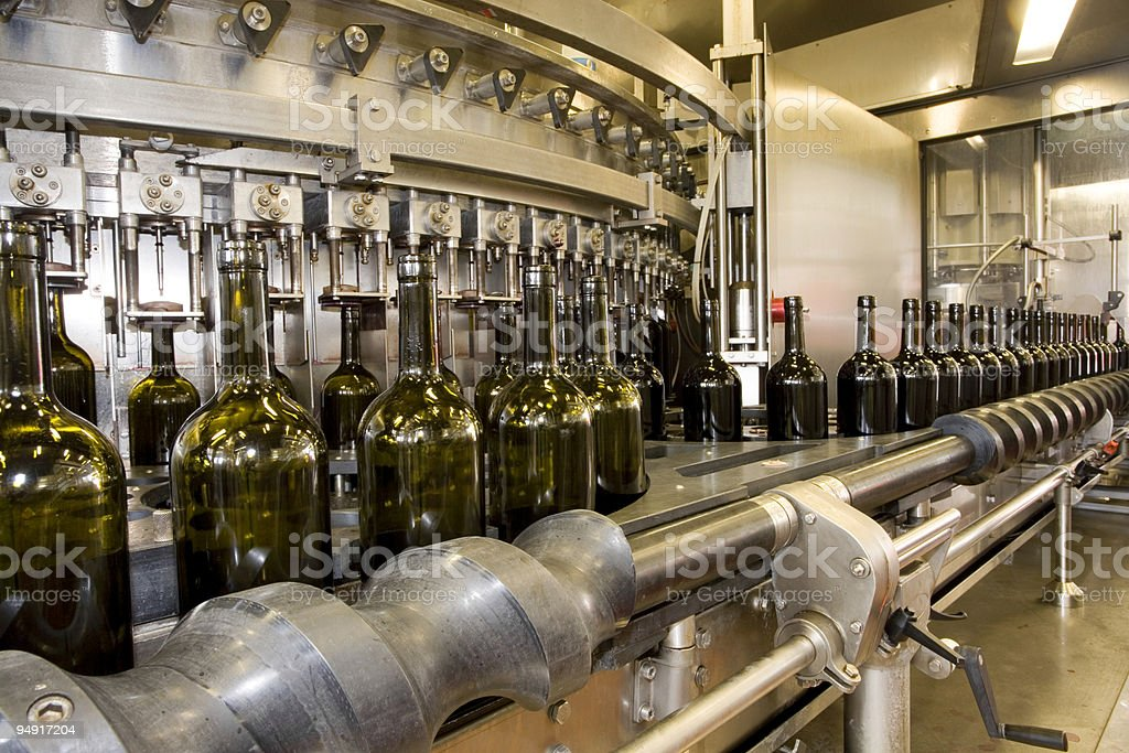 bottling plant royalty-free stock photo