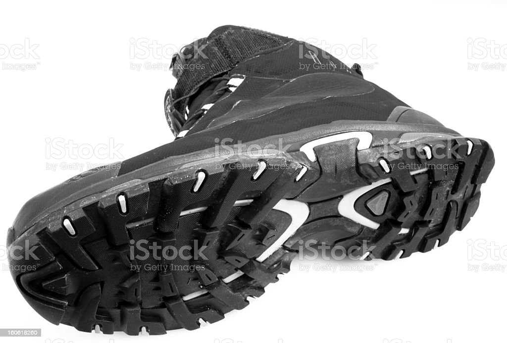 Bottom Black Hiking Boot royalty-free stock photo