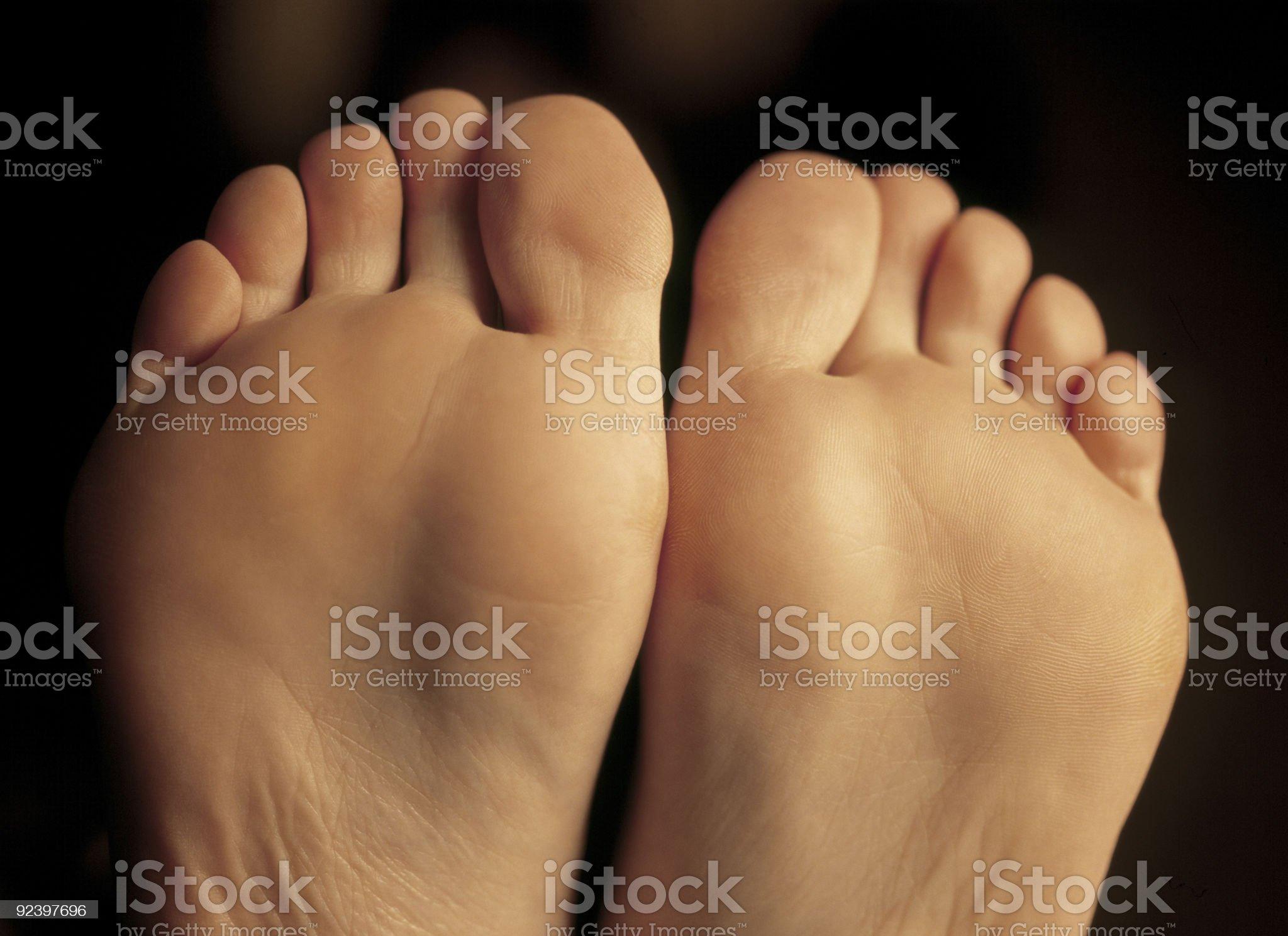 Bottom of her feet royalty-free stock photo