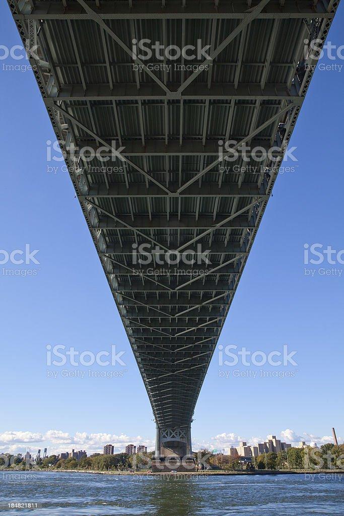 Bottom of Robert F. Kennedy Bridge in New York City stock photo