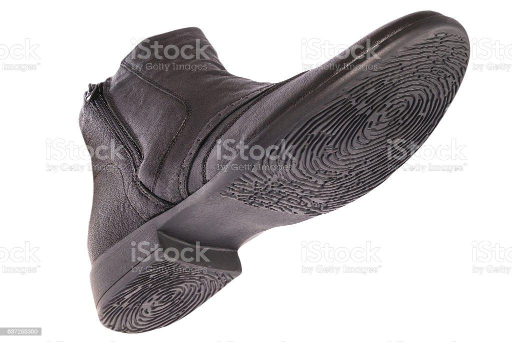 Bottom of shoe. Sole as a fingerprint. stock photo