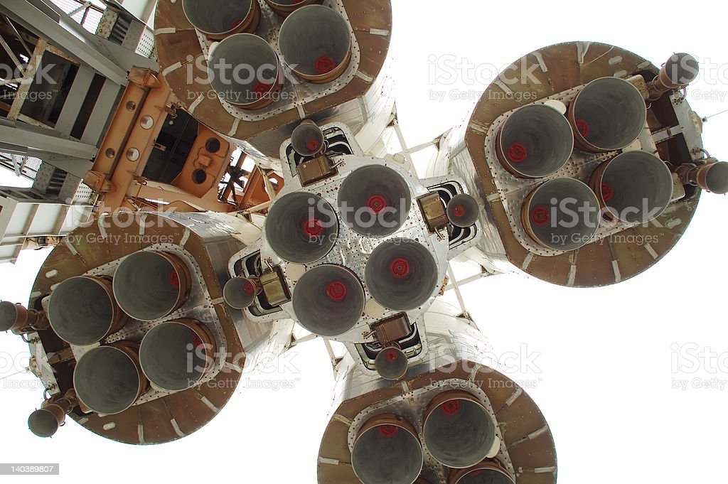 Bottom of space rocket royalty-free stock photo
