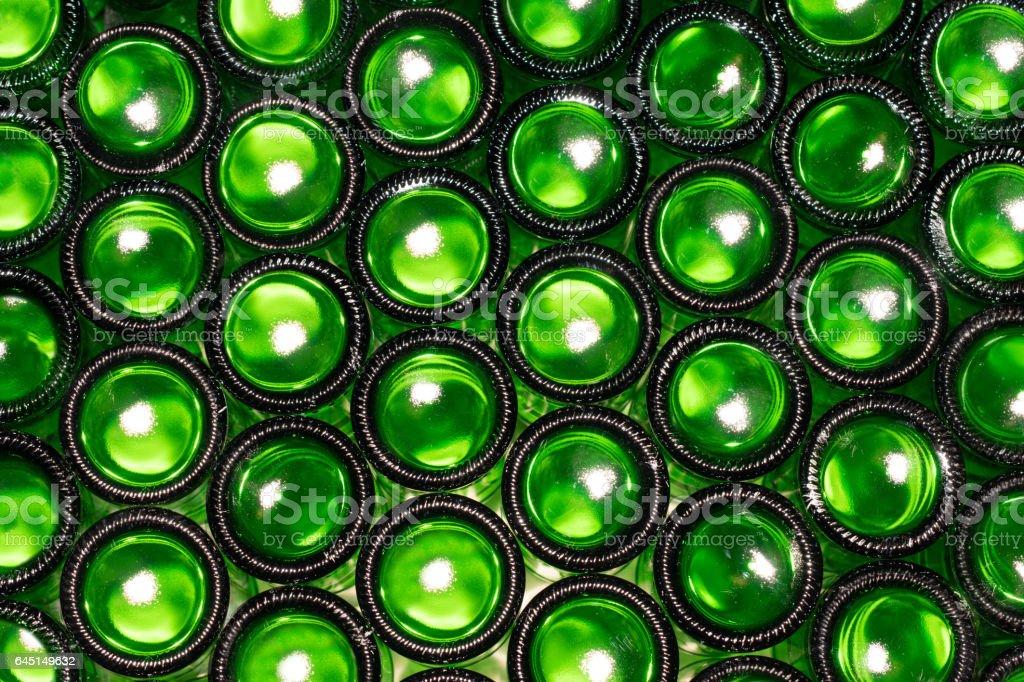 Bottoms of bottles stock photo