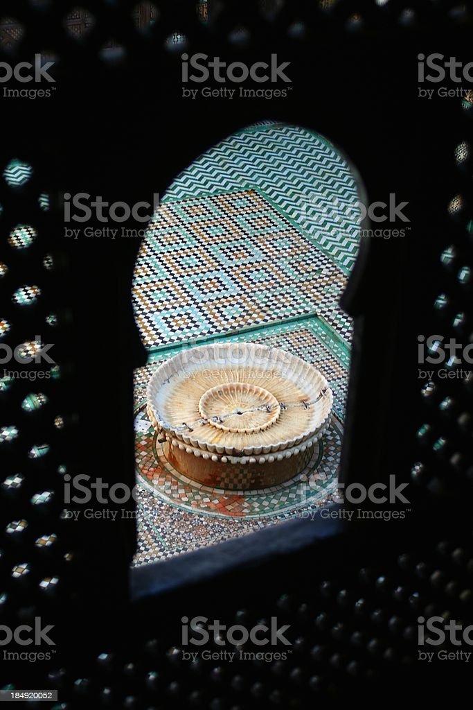 Bou Inania Medersa courtyard stock photo