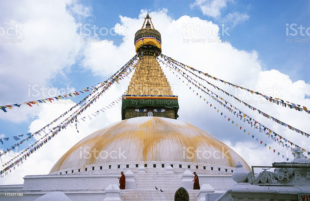 Boudhanath, Kathmandu, Nepal royalty-free stock photo