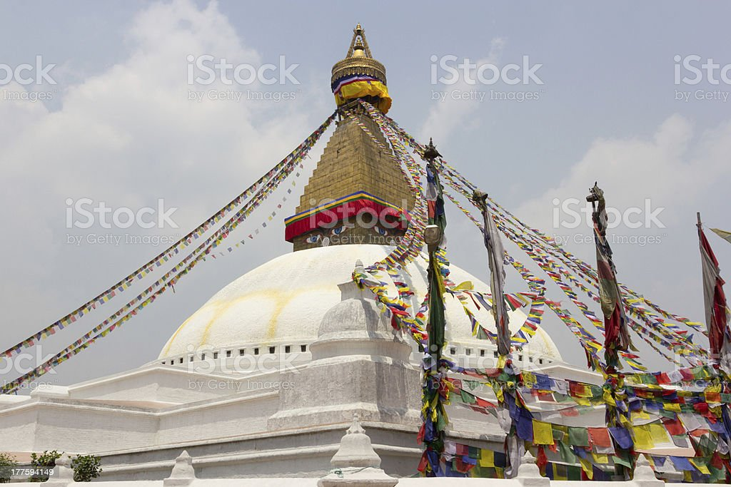 Boudhanath stupa in Kathmandu, Nepal royalty-free stock photo