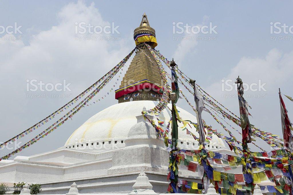 Boudhanath stupa in Kathmandu, Nepal royalty-free stock photo