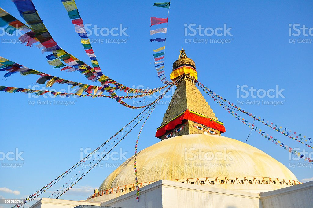 Boudhanath Stupa in Kathmandu stock photo