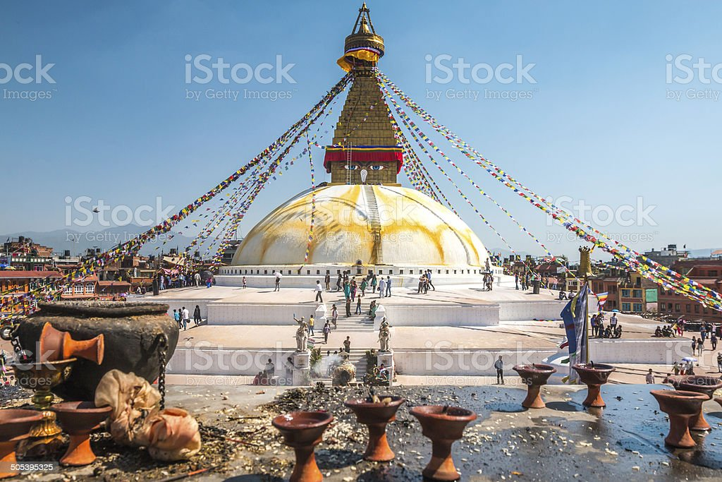 Boudhanath Stupa in Nepal stock photo