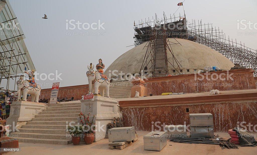 Boudhanath stupa, Kathmandu, Nepal stock photo