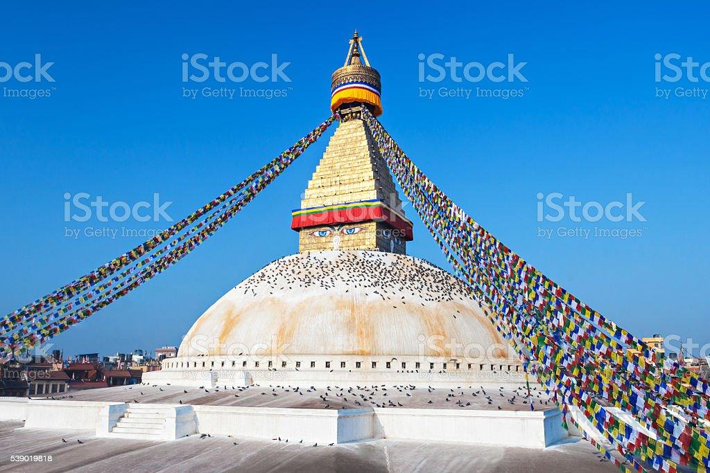 Boudhanath stupa, Kathmandu stock photo