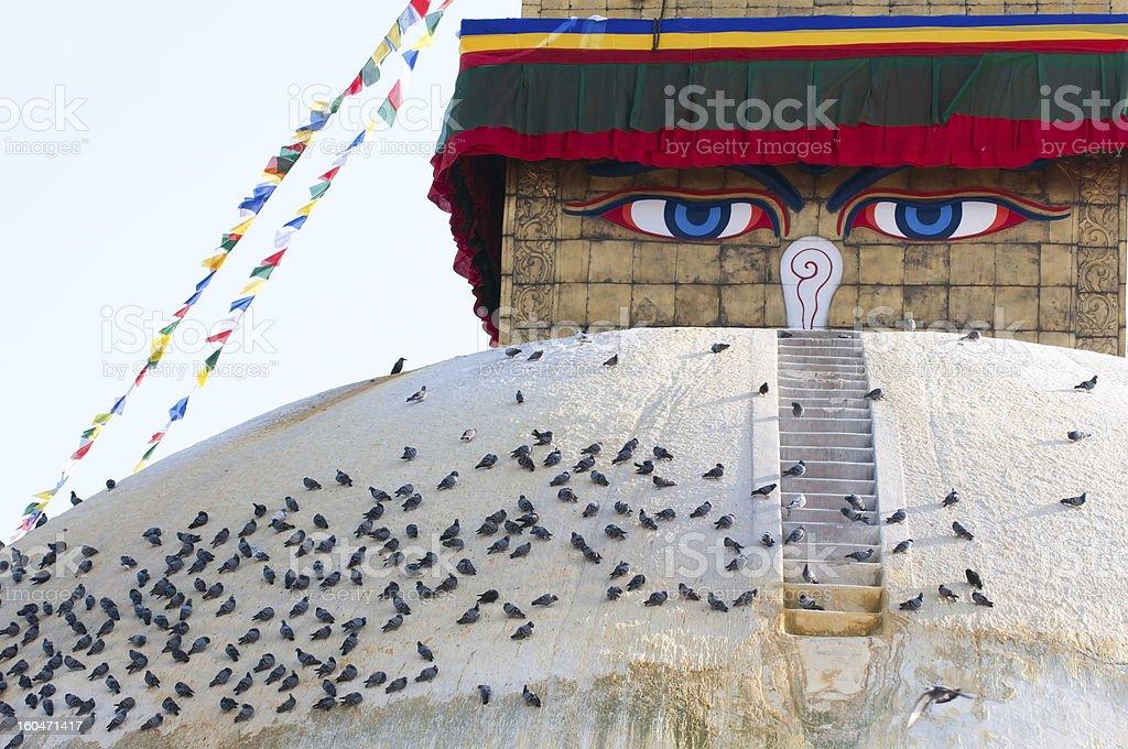 Boudhanath stupa royalty-free stock photo