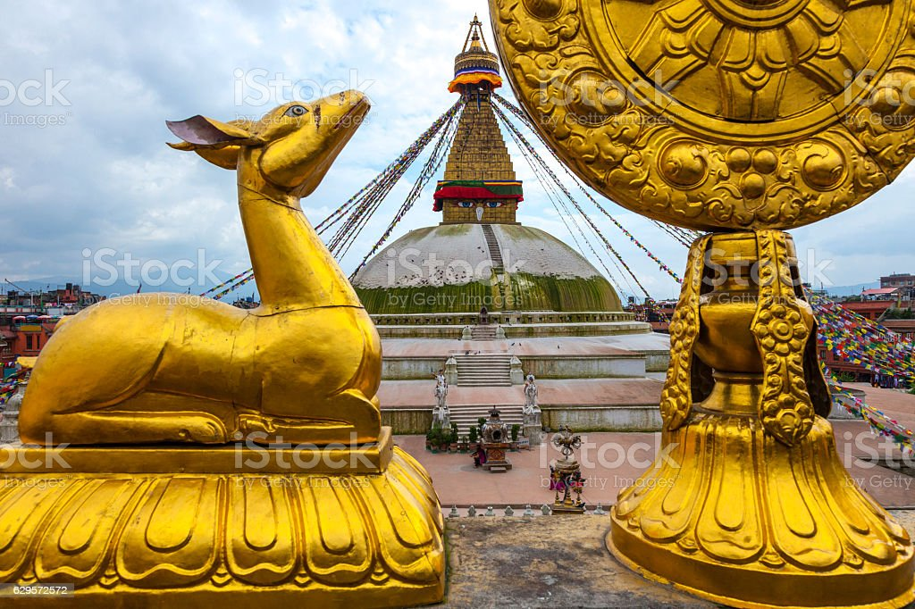 Boudhanath Temple stock photo