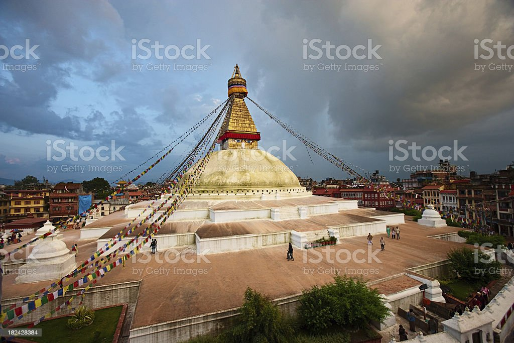 Boudhanath World's Largest Stupa, Nepal stock photo