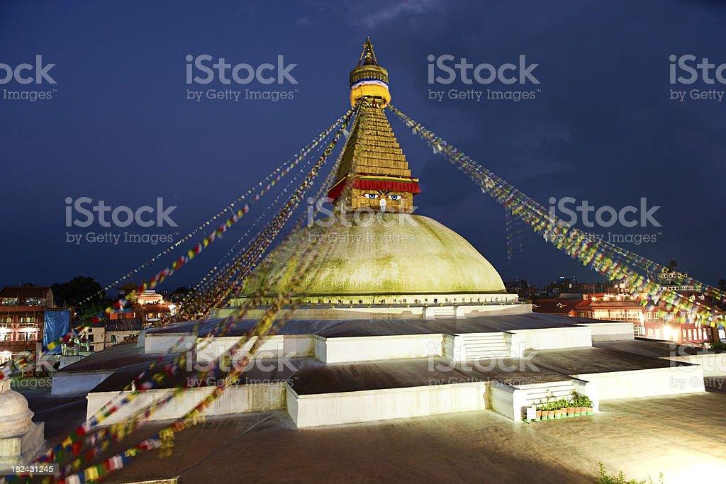 Boudhanath World's Largest Stupa, Nepal royalty-free stock photo