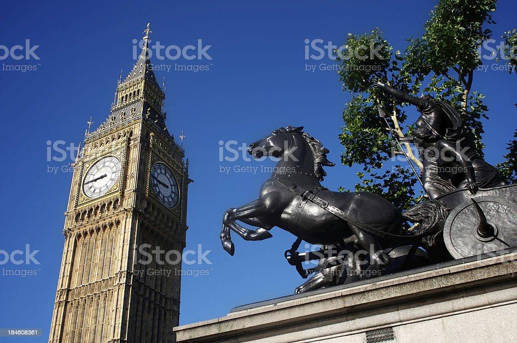 Boudicca and Big Ben stock photo