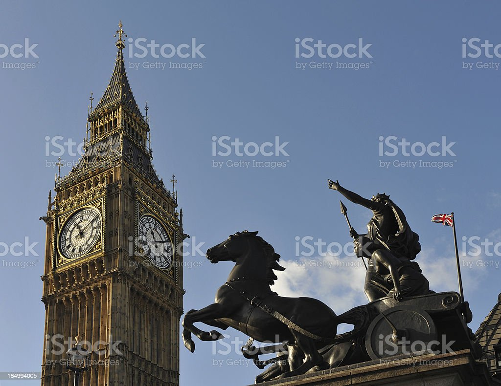 Boudicca in her Chariot stock photo