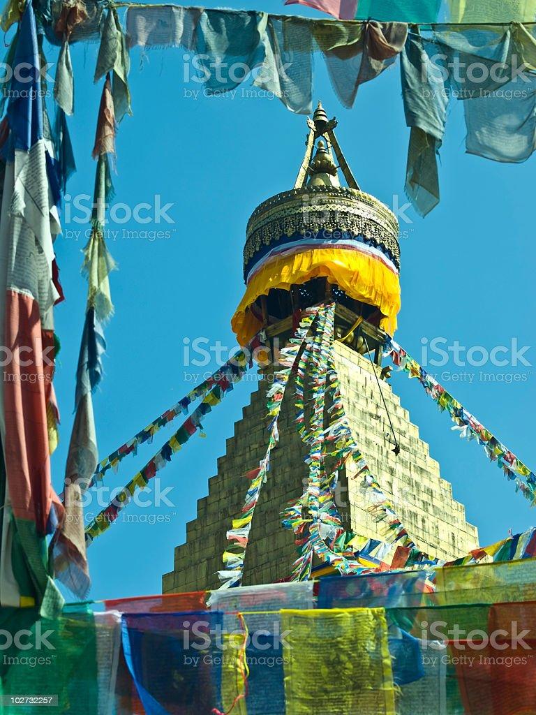 Boudnanath Stupa stock photo