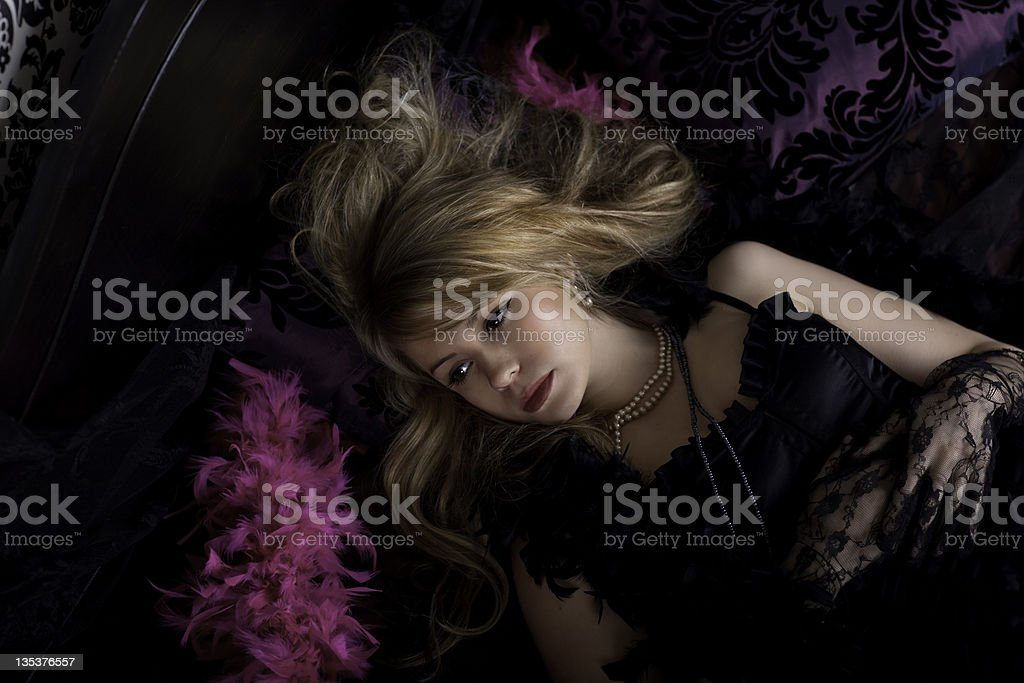 Boudoir woman royalty-free stock photo
