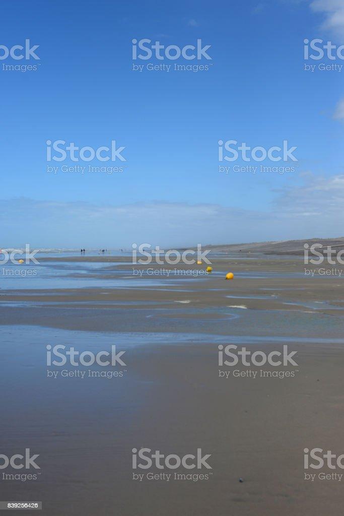 Bouée sur la plage de Ault stock photo