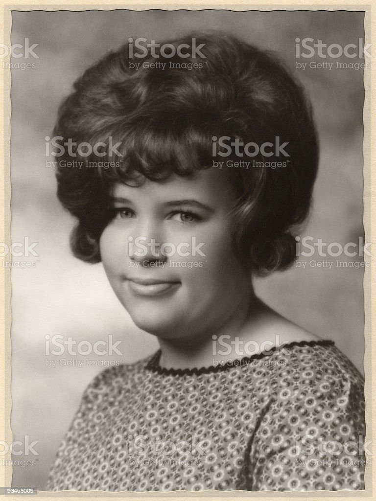 Bouffant, 1963 royalty-free stock photo