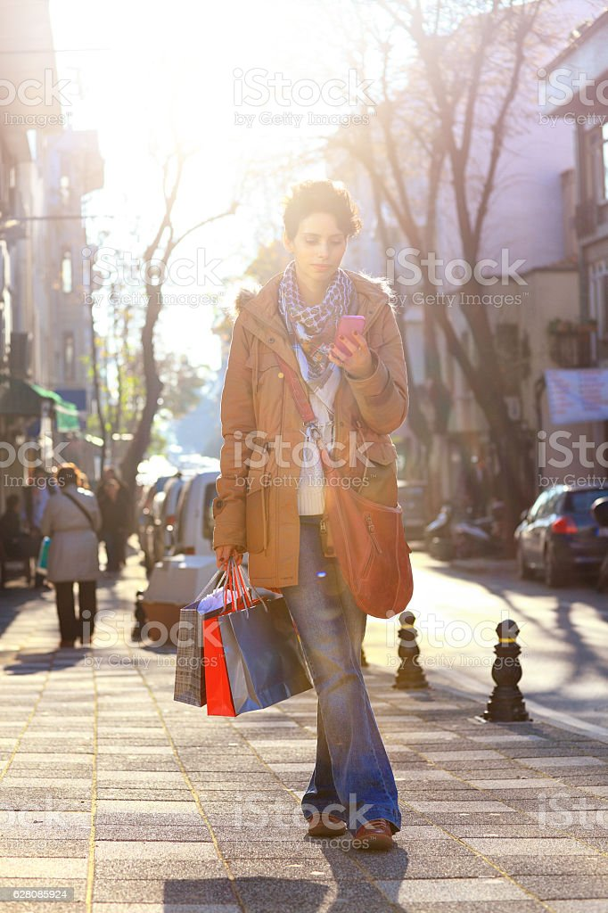 I bought a lot of gifts stock photo