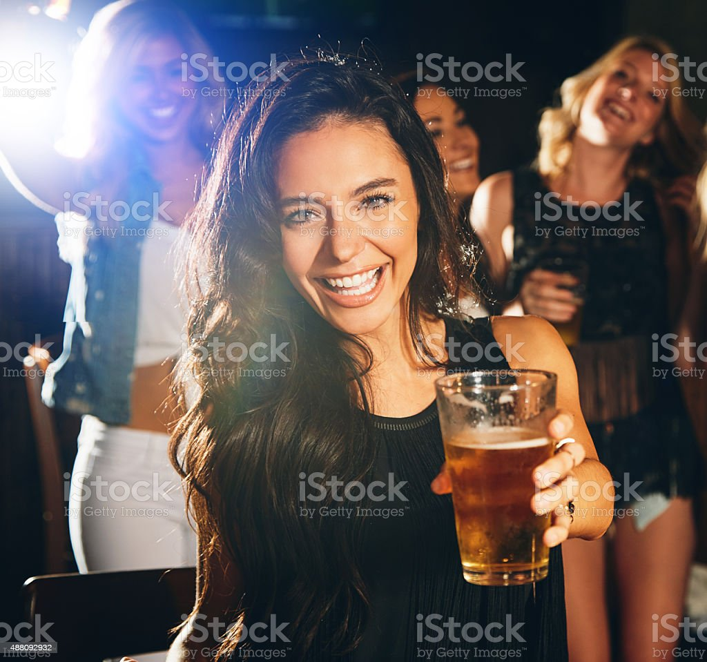 I bought you a beer stock photo