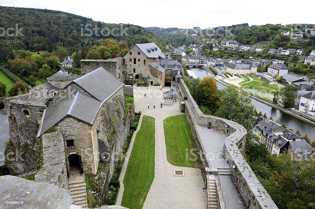 Bouillon Castle from above stock photo