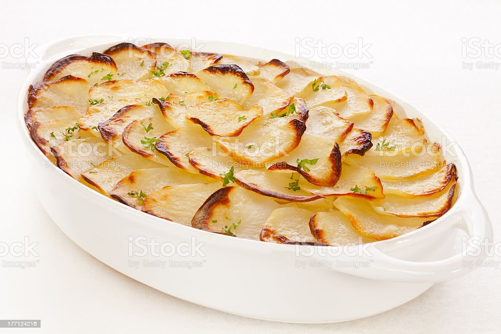 Boulangere or Scalloped Potatoes stock photo