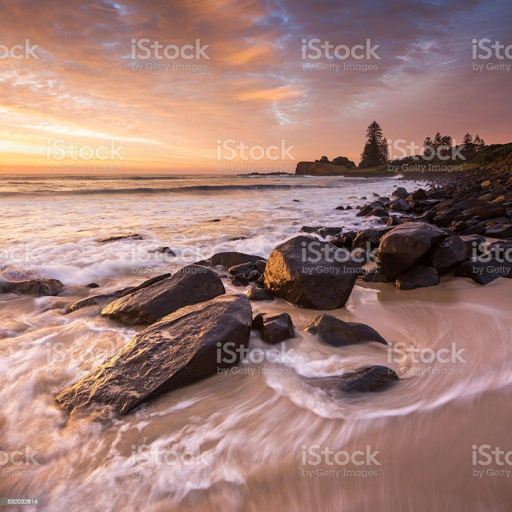 Boulder Beach Sunrise stock photo