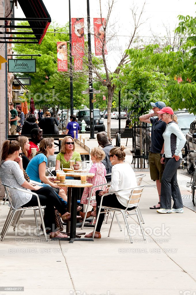 Boulder Breakfast stock photo