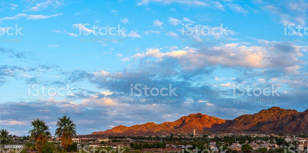 Boulder City Panorama stock photo