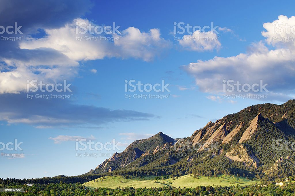 Boulder Colorado Flatirons stock photo