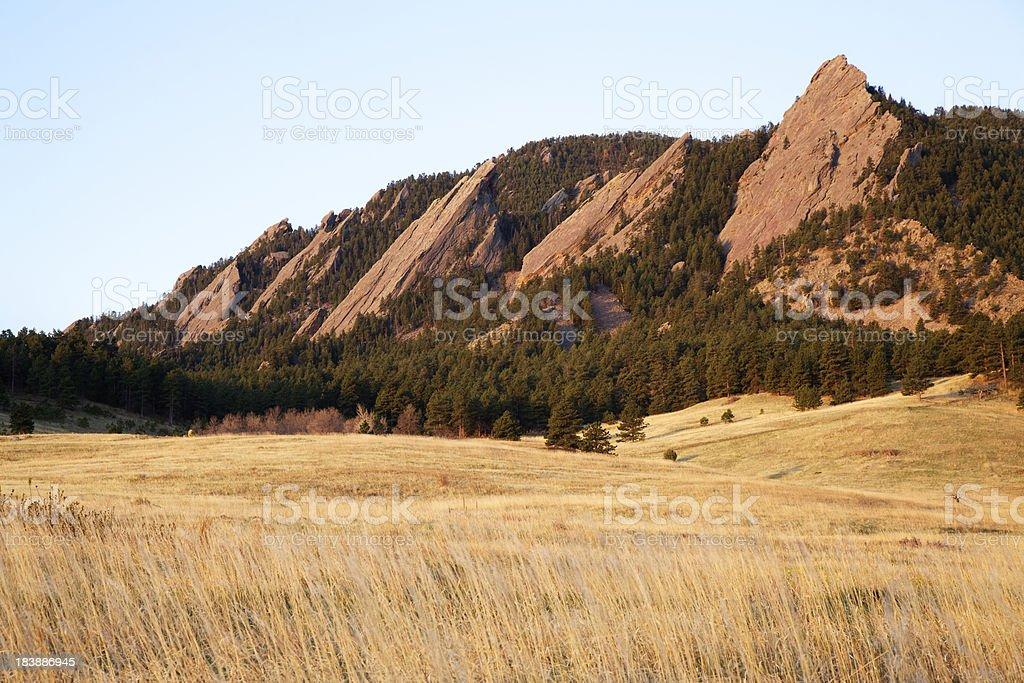 Boulder Colorado Flatirons stock photo