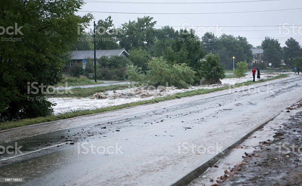 Boulder, Colorado flooding stock photo