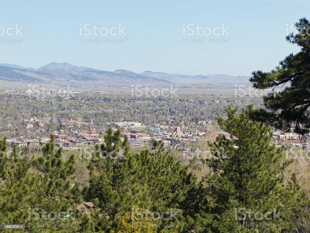 Boulder, Colorado springtime view stock photo
