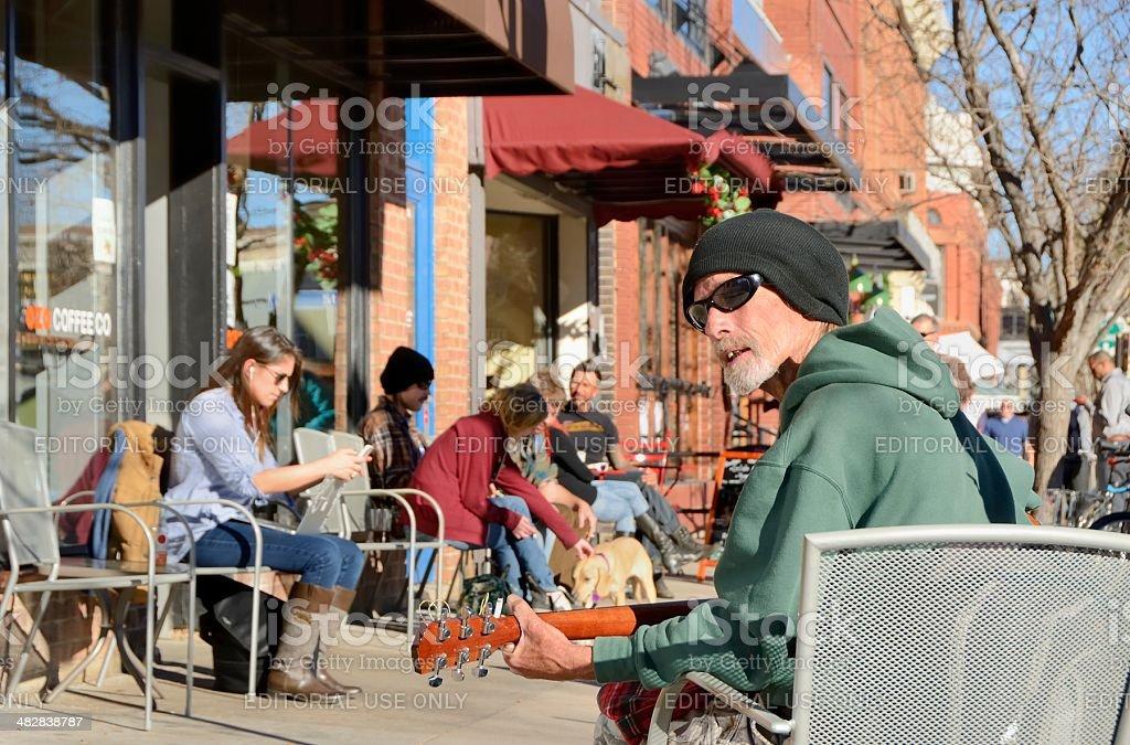 Boulder, Colorado Street Scene stock photo