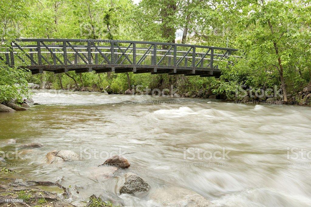 Boulder Creek Bridge royalty-free stock photo