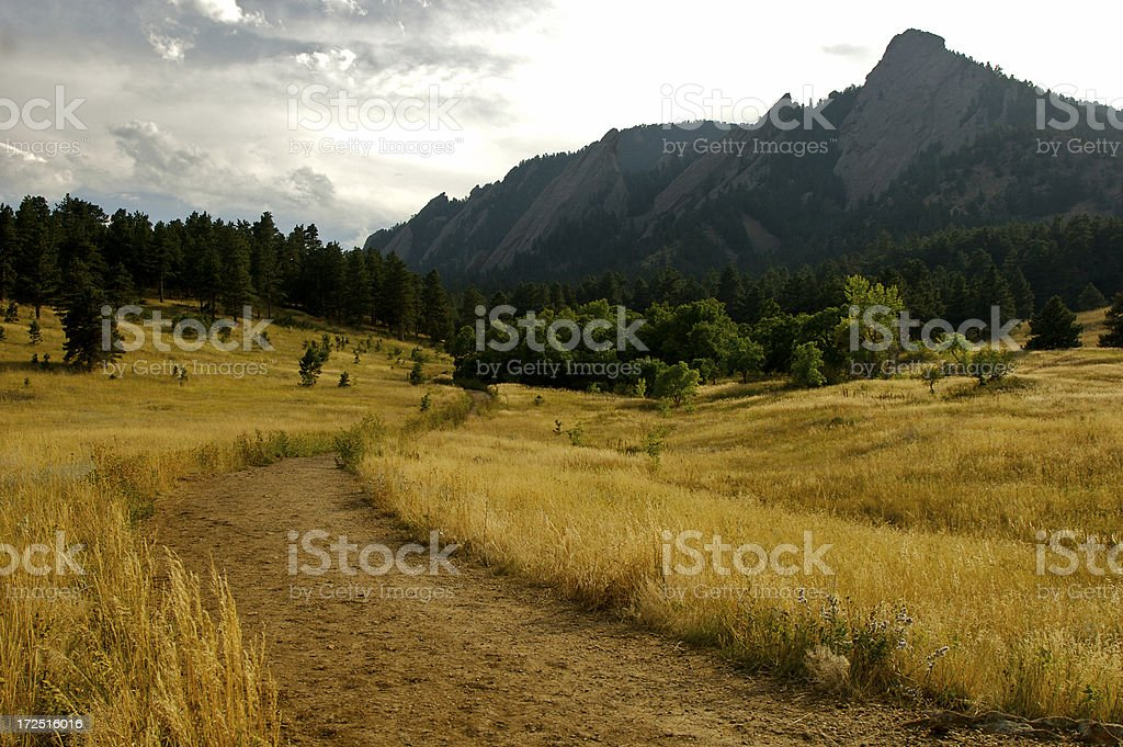 Boulder Flatirons Hiking Trail royalty-free stock photo