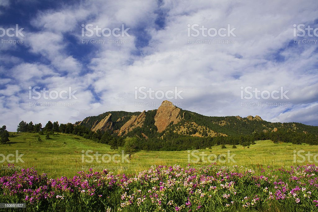 Boulder  Flatirons stock photo